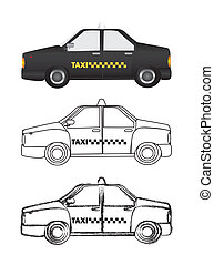 taxi, vector