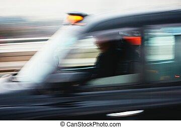 taxi, voiture, mouvement
