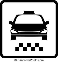taxi, voiture, noir