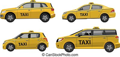 taxi, voitures, service