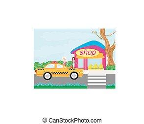 taxi, winkelpui
