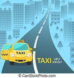 taxifahrzeuge, auto