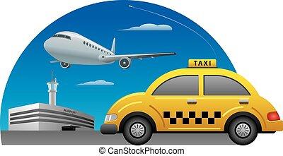 taxifahrzeuge, fahren, service