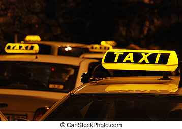 taxifahrzeuge, s, aufwartung linie