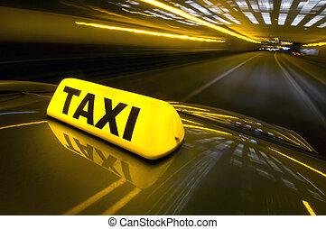 taxifahrzeuge, schnell
