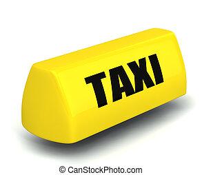 taxifahrzeuge, symbol, modell, gelber , 3d