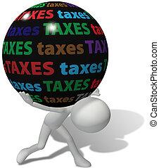 taxpayer, tassa, ingiusto, grande, carico, sotto