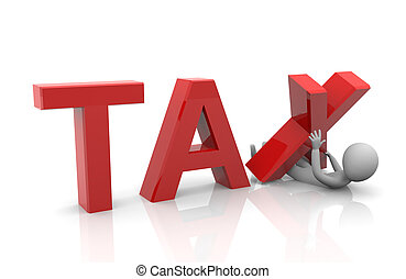 3d render of heavy taxation concept