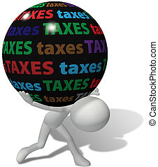 Taxpayer under large unfair tax burden - Taxpayer struggles...