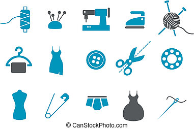 Taylor Icons Set - Vector icons pack - Blue Series, taylor...
