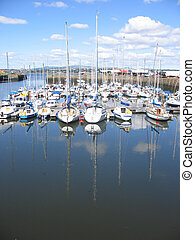 Tayport harbour, Fife, Scotland