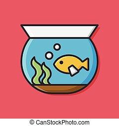 tazón de fuente de los pescados, icono