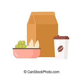 taza, aislado, uva, fondo., papel, apetitoso, ir, ...