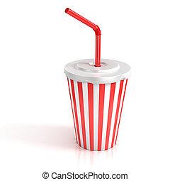 taza, alimento, tubo, Rápido, papel, rojo