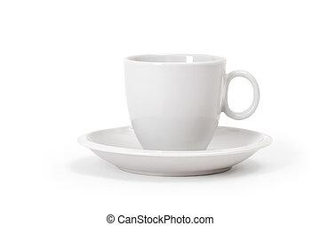 taza blanca, blanco, plano de fondo