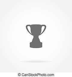 taza, campeón, icono