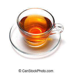 taza, con, té