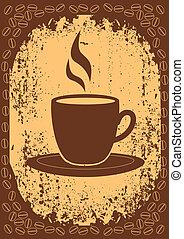 taza, de, coffee.