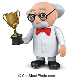 taza de oro, tenencia, científico, premio, trofeo, enojado, ...