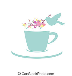taza, té