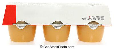 tazas, compota de manzanas