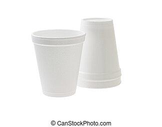tazas, disponible, styrofoam