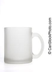 tazza bianca, isolato, stuoia