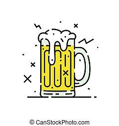tazza birra bicchiere, icona
