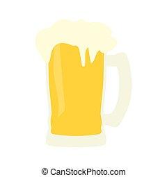 tazza, birra, icona