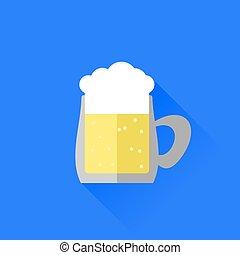 tazza birra, icona