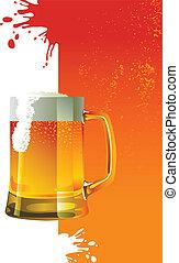 tazza birra, schiuma