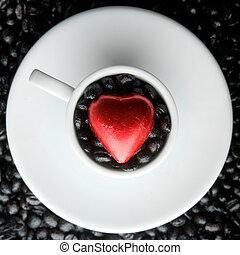 tazza caffè, cuore