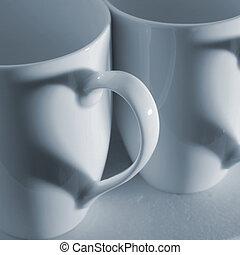 tazza caffè, cuori