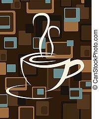 tazza, caffè, vettore, illustrazione, icona