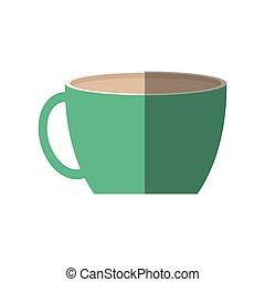 tazza, padre, ornamento, bevanda, verde, giorno