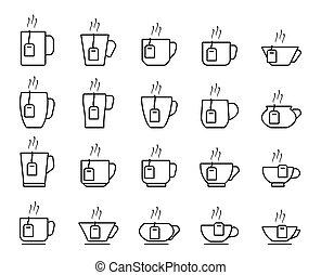 tazza tè, icone