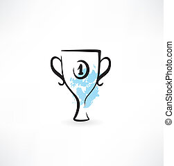 tazza, vincitore, icona