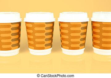 tazze caffè, takeaway