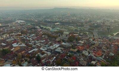 tbilisi, architecture, topshot