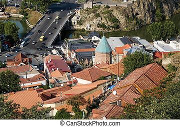 tbilisi, cidade velha, de, a, capital, de, geórgia