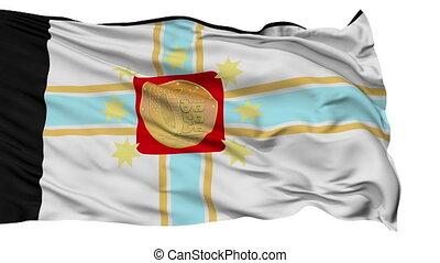 Tbilisi City Isolated Waving Flag