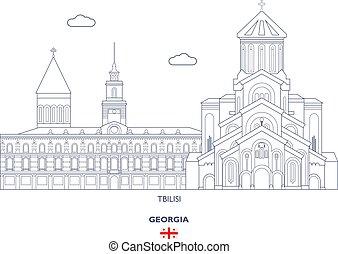 Tbilisi Linear City Skyline, Georgia