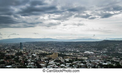 Tbilisi, Georgia. Panoramic View. Time Lapse - Tbilisi,...