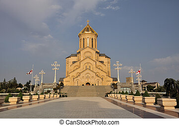 The Tbilisi Holy Trinity Cathedral commonly known as Sameba is the main Georgian Orthodox Christian cathedral, located in Tbilisi, the capital of Georgia.