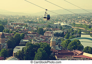 Tbilisi view - View of the Tbilisi - an?ient city and the...