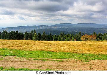 tchèque, automne, minerai, république, montagnes