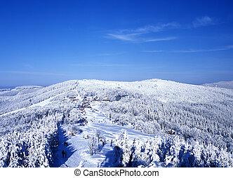 tchèque, beskydy, hiver, république