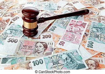 tchèque, billets banque, république