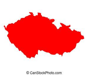 tchèque, carte, république