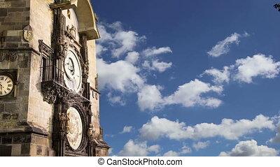 tchèque, horloge astronomique, prague